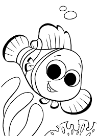Kid Color Pages Finding Nemo Coloring For Kids Printable Free