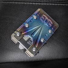 elite outfitting solutions eos titanium 2 0 wallet flamed