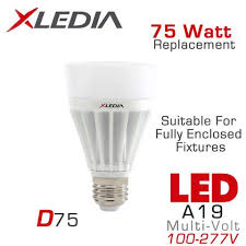 xledia d75n 75 watt equal a19 led for fully enclosed fixtures