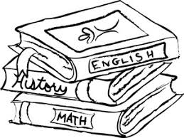 Textbooks Clipart Image Coloring Page Of School Including English History And Math