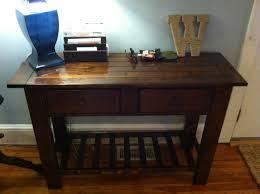 Ana White Sofa Table by Ana White Benchwright Tryde Console Table Diy Projects