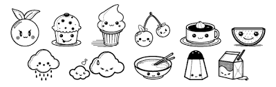 Kawaii Coloring Pages Of Foods