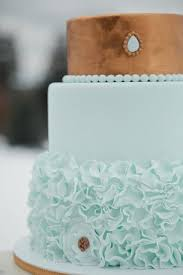 Fabmood Wp Content Uploads 2015 04 Gold And Mint Wedding Cake