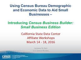 bureau of the census census bureau demographic and economic data to aid small