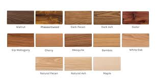 Sample Of Each Wood Included In Kit Cedar Mesquite Ash Natural And