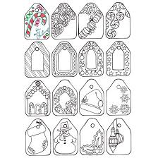 Printable Adult Coloring Christmas Gift Tags By Candy Hippie Htto Candyhippie