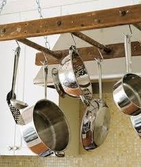Creative Kitchen Storage Ideas Ladder Pot Rack