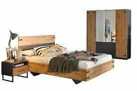 schlafzimmer komplett set bett 140x200 cm kleiderschrank