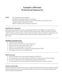 Professional Summary Examples For Resumes S Resume Sales
