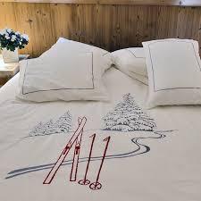 linge de lit style chalet montagne linge de lit style