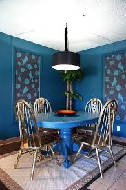 Blue Dining Room Table Interior Design For At From Likeable