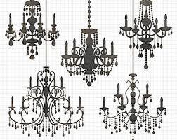 Chandelier Clipart Silhouettes Silhouette Clip Art Wedding Invitation Commercial