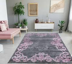 teppich bienal grau pink kurzflor wohnzimmer modern neu grey