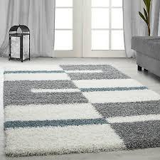 langflor teppich shaggy wohnzimmerteppich hochflor türkis