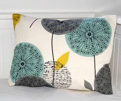 Decorative Lumbar Throw Pillows by Decorative Pillow Cover Teal Grey Mustard Dandelion Sofa Cushion