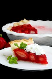 Fresh Strawberry Pie recipe sweet filling of jello in crust with whipped cream gratefulprayerthankfulheart