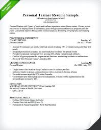 Gym Manager Resume Personal Trainer Sample Operations