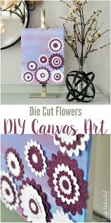 Paper Flower DIY Canvas Art With Die Cut Flowers