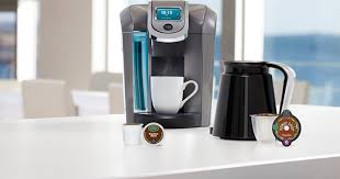 The New Keurig Machine Only Takes Pods Produced By Company They Come In Two Sizes One For Individual Cups And Larger