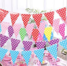 Image Is Loading Multi Colour Paper Bunting Banner Flag Garland Wedding