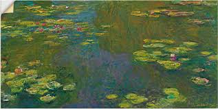 22 99 artland wandbild der seerosenteich le bassin aux