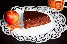 apfel schokoladenkuchen mit guss