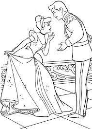 Free Coloring Pages Cinderella Disney Mice Printable And Prince Charming Large Size