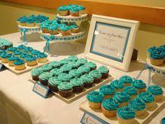 Turquoise Cupcake Table Wedding DisplayWedding