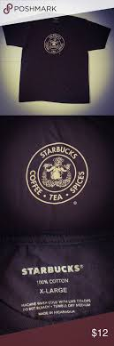 Starbucks Coffee Mermaid T Shirt Split Tail Tea Spices TShirt Mens XL Brown From The Original In Pike Place Located