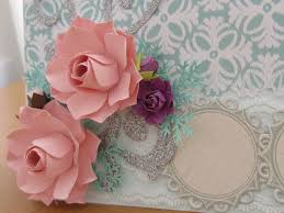 HOW TO MAKE PAPER FLOWER FOR HANDMADE CARD DECORATION
