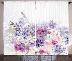 gardine schlafzimmer kräuselband vorhang mit schlaufen und haken abakuhaus lavendel rosa lila blumen kaufen otto