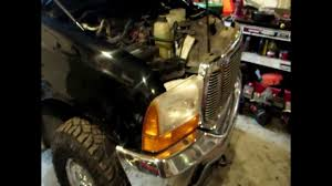 01 f350 headlight replacement to 05 07 harley light and bumper