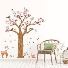 große größe niedlichen schnecken hirsch baum wandaufkleber für kinderzimmer schlafzimmer wohnzimmer kindergarten hintergrund aufkleber kunst wandbild