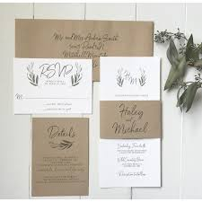 Rustic Wedding Invitation Modern Calligraphy Suite Love Of Creating Design Co