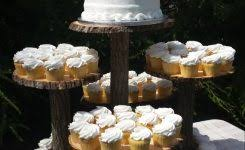 Wedding Cake Stands Wooden Picture Rustic Cupcake Stand Log Tree 570 X