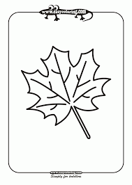 Leaf Six Simple Leafs Easy Coloring Pages For Toddlers 145102