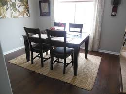 Black Square Table Closed Simple Chair Right For Stunning Dining Room Rugs With Wooden Floor Plus Cute Curtain And Glass Window Side Ture Rug Under Round