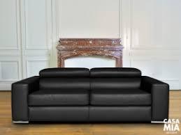 canapé cuir noir convertible casa design canapé contemporain haut de gamme