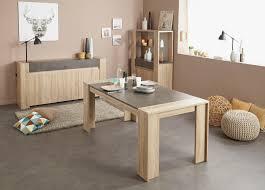 table de salle à manger rectangulaire coloris chêne bêton avorio