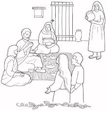 Image Result For Mary And Martha House Coloring Sheet