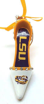 LSU TIGERS High Heels Christmas Tree Ornament