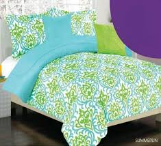 Turquoise Blue and Lime Green Bedding Sets – Sweetest Slumber