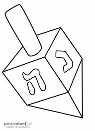 Dreidel Coloring Pages At