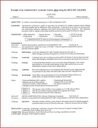 Curriculum Vitae Sample Executive Assistant Valid Resume Templates Administrative Admin Australia