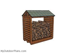firewood shelter plans myoutdoorplans free woodworking plans
