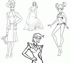 Free Fashion Coloring Pages Printable For Adults
