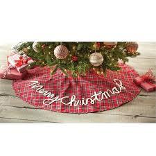 Christmas Tree Skirt Tartan Home Mud Pie Pattern Cross Stitch