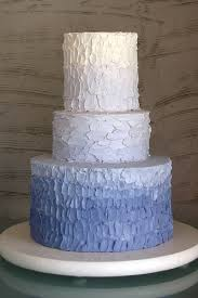 Blue Rustic Iced Ombre Wedding Cake