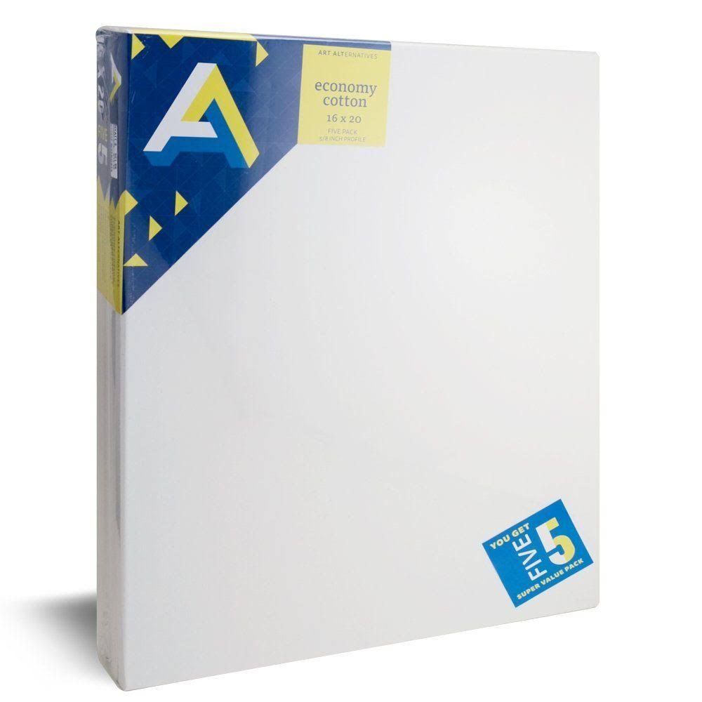 Art Alternatives Economy Artist White Canvas - 16x20'', 5 Pack