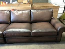 Pottery Barn Turner Sectional Sofa by Pottery Barn Turner Leather Sofa Sectional 3 Pc Burnt Walnut Love